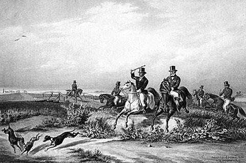 Andrásy Manó: Lov sa hrtovima, 1857.