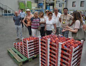 Učesnici ekskurzije u poseti pogonu za pakovanje voća